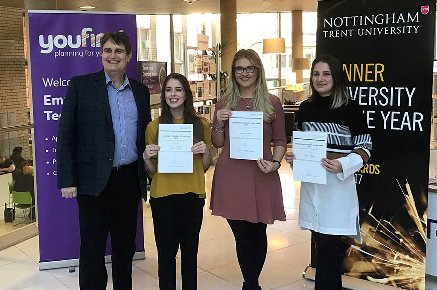 Award winning placement students