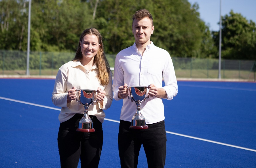 NTU Hockey duo Bridget and Alex with awards
