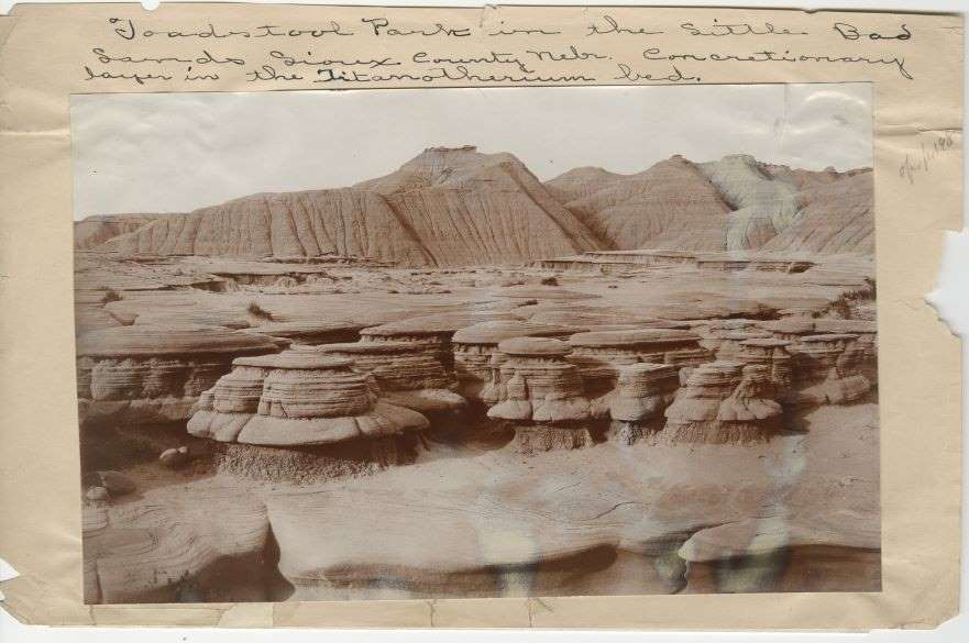 Toadstool Park Little Badlands, Nebraska 1896