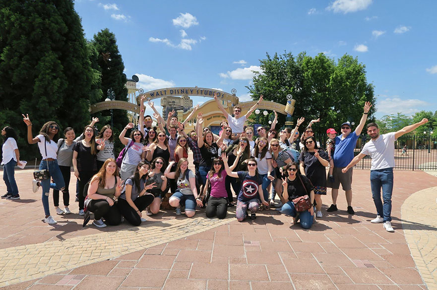Students in the Concert Band at Disneyland