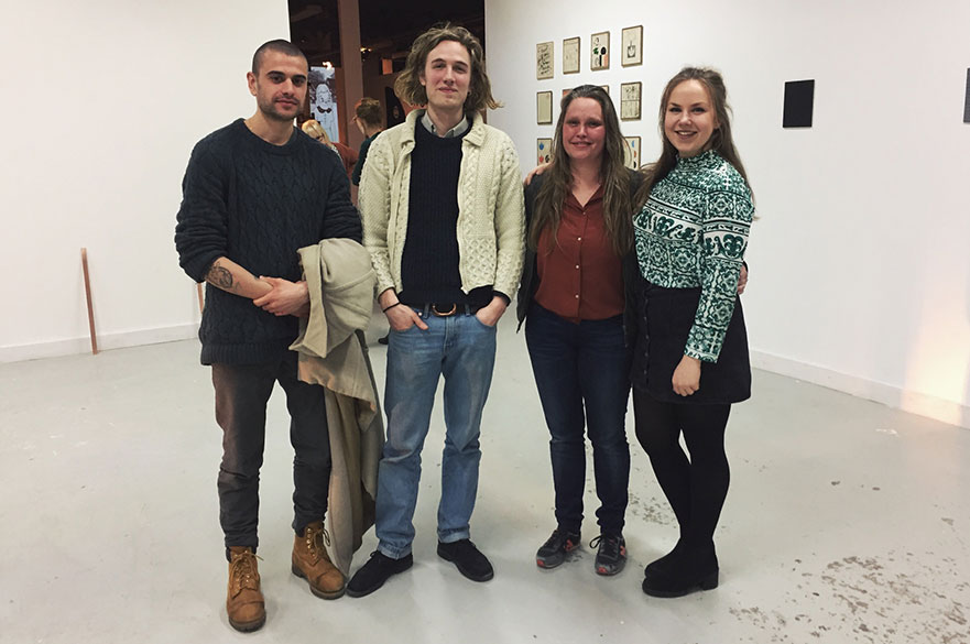 Student participants of the Kunstpodium T Apprentice Master project