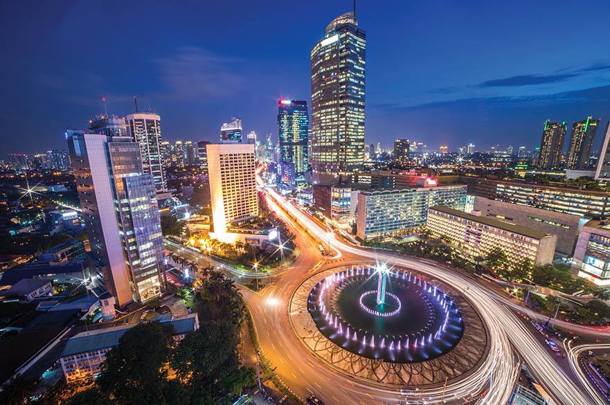 city at night image