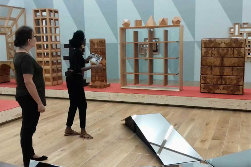 Ana Souto and Sayo Olowo-Ake delivering a Walkthrough at Nottingham Contemporary