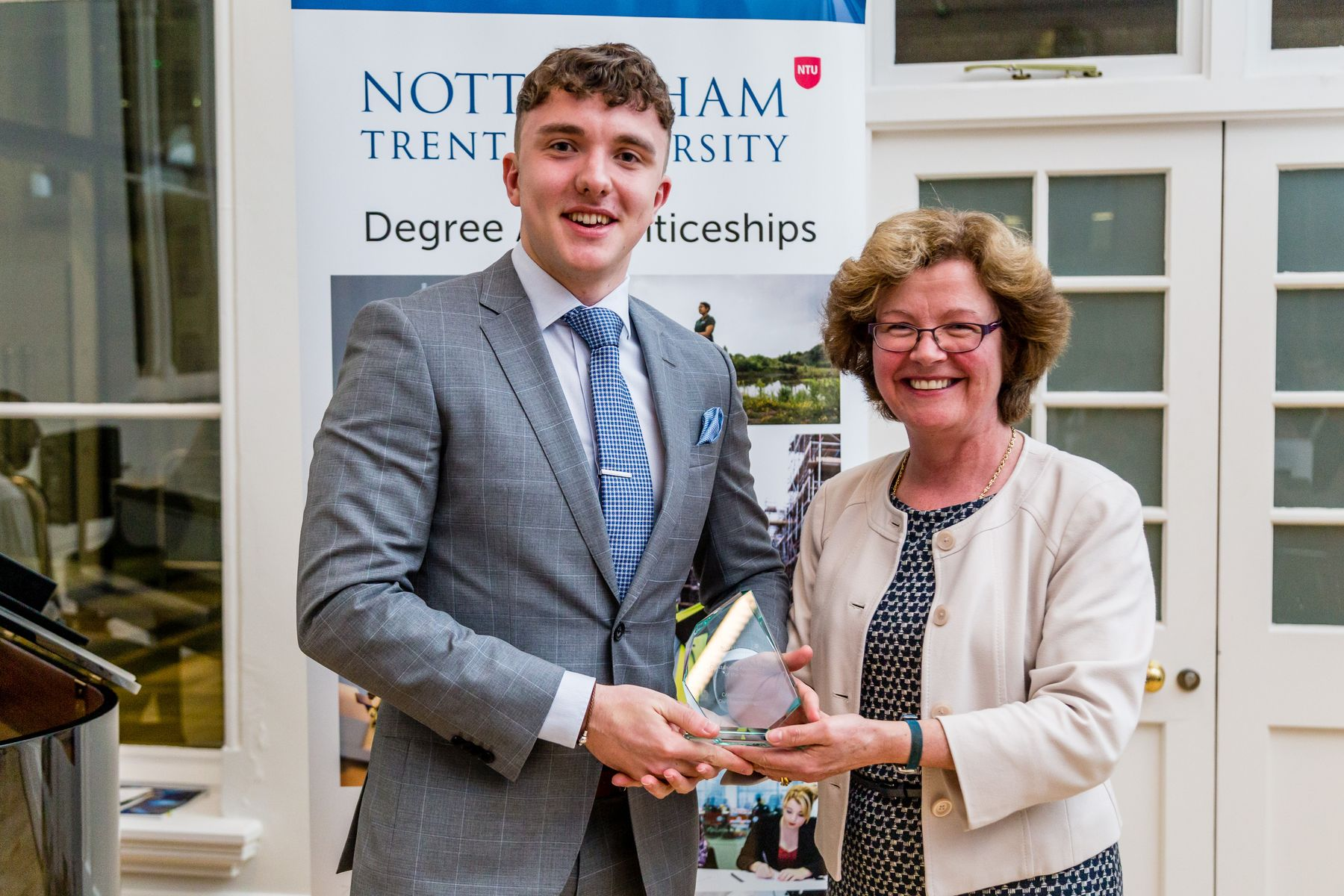 Apprentice of the year within the field of Construction collecting their award