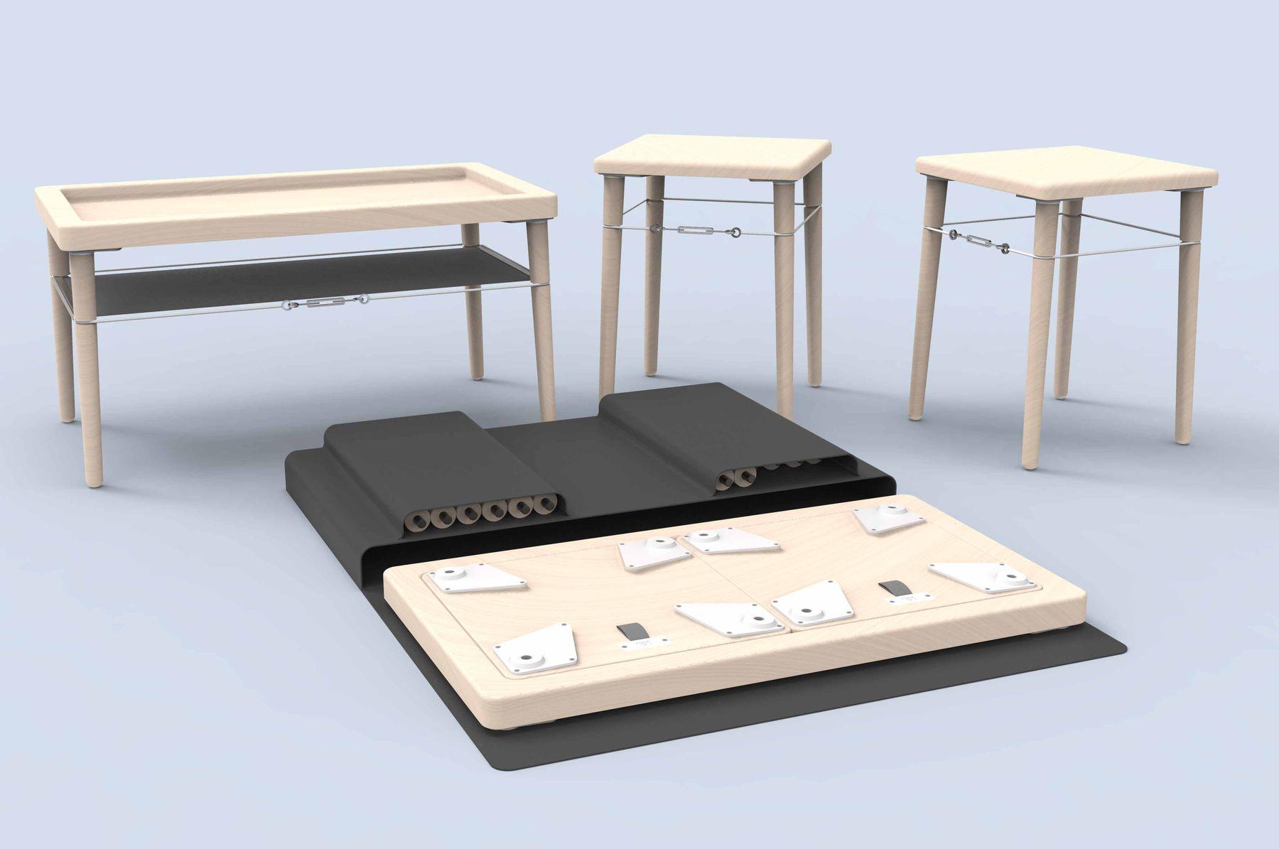 Kit Furniture Set, James Elliott, Ba (Hons) Product Design, 2019