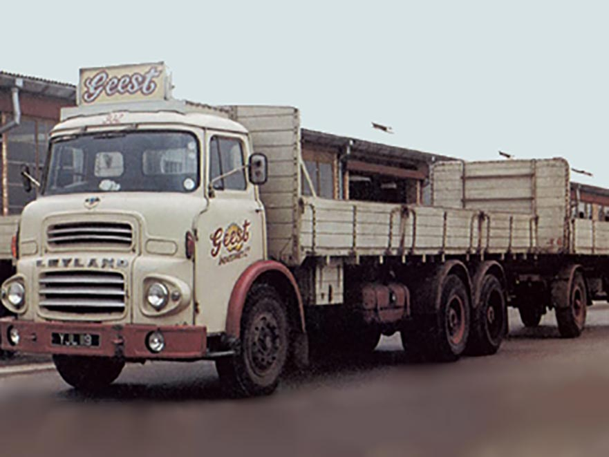 Geest delivery truck