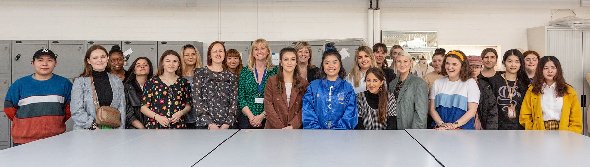 All fashion students taking part in the Boots uniform project