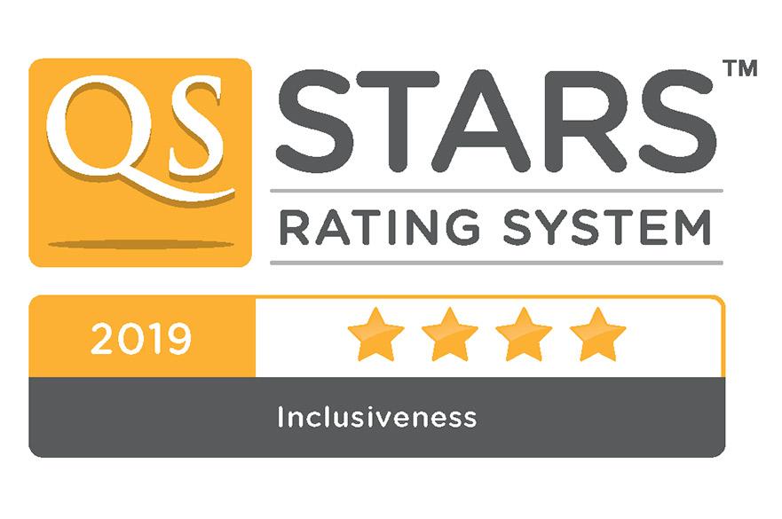 QS Stars Inclusiveness 2019