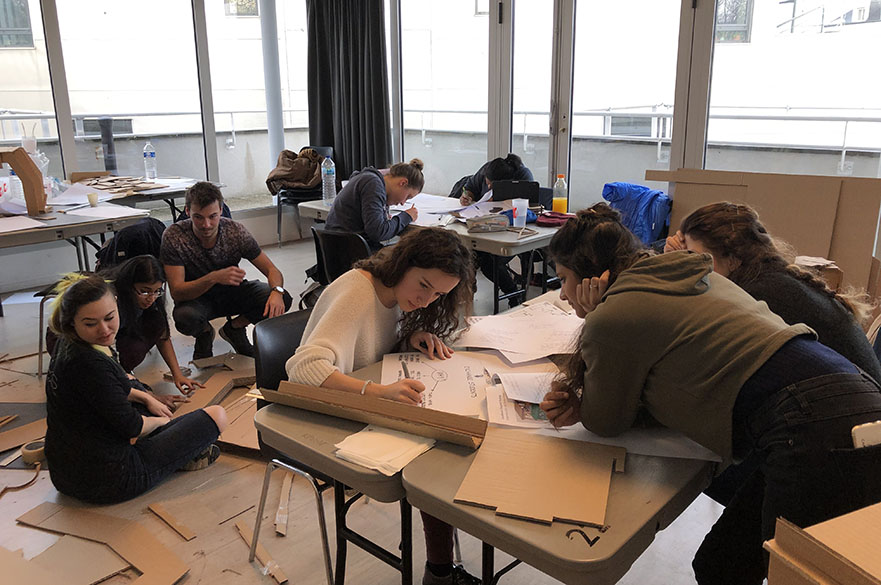 MA MSc Design students working with their counterparts at the Strate School of Design in Paris