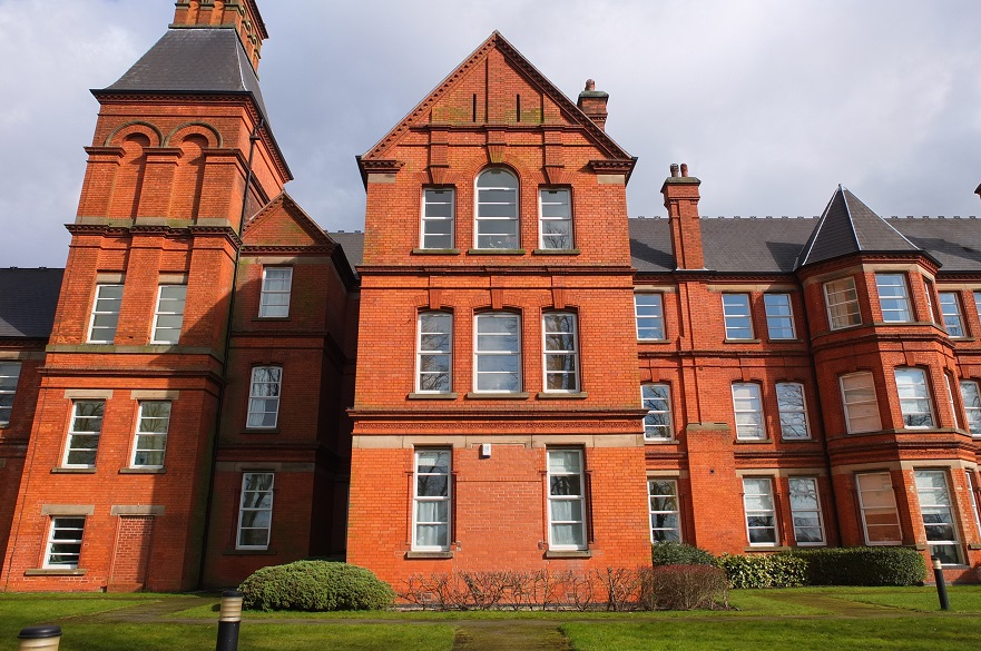 Present day Mapperley Hospital turned into flats