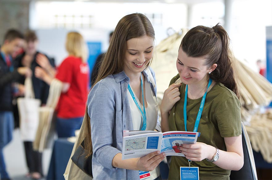 Students at an Open day