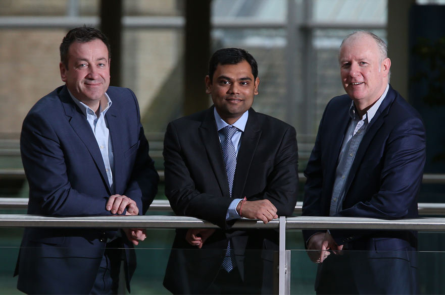 Mike Sassi, Dr Dhaval Patel and Dr Phil Considine