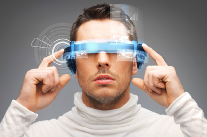 Man with Virtual reality device
