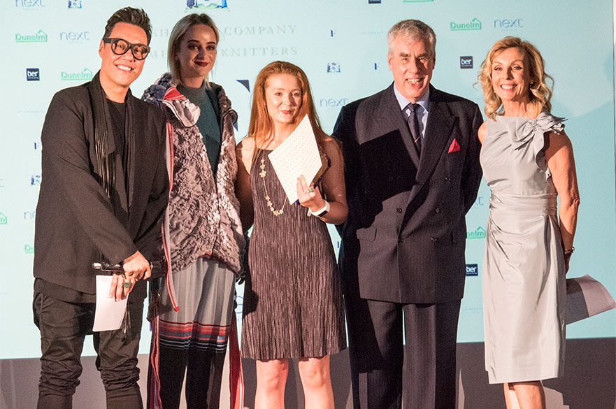 Members of the judging panel with winner Eilish Pick