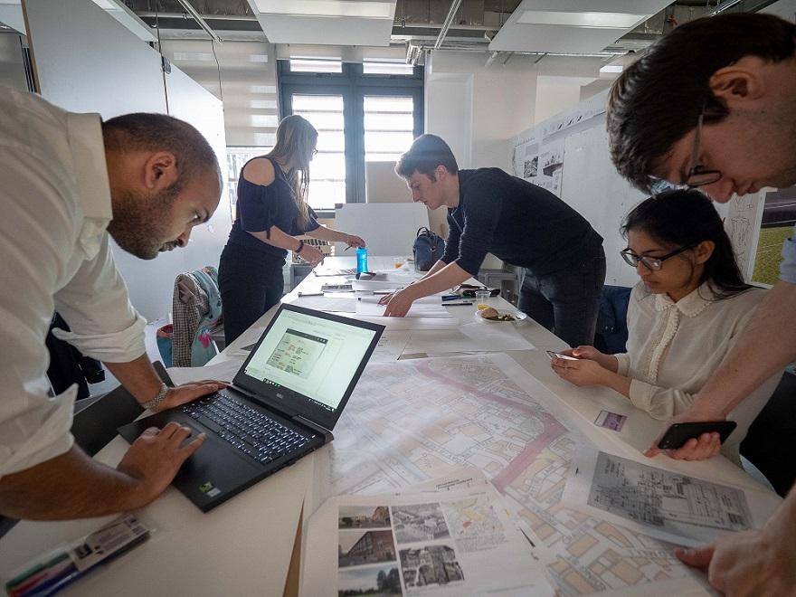 Students at the RIBA Design Charrette