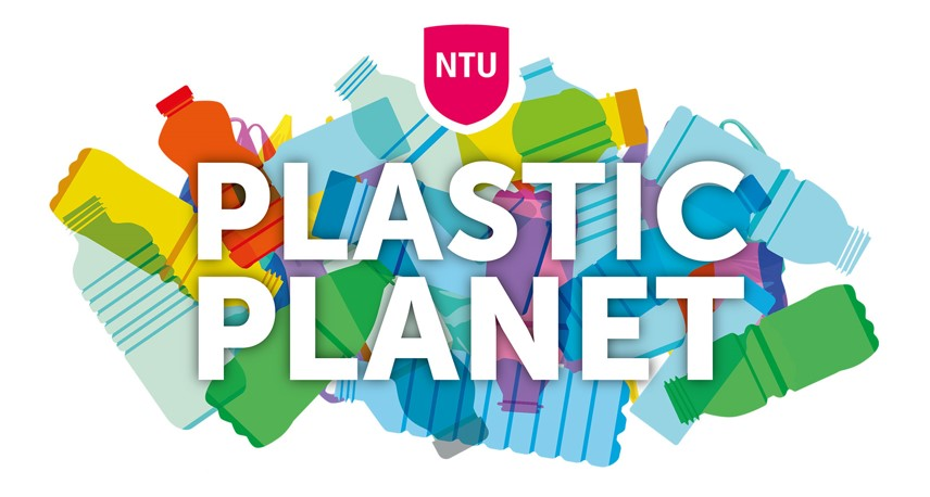 NTU's Plastic Planet campaign visual