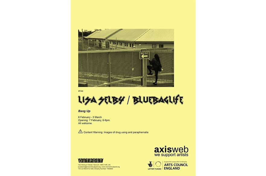 Lisa Selby/bluebaglife exhibition poster