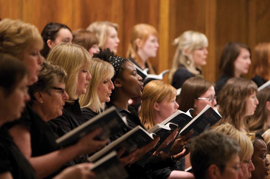 Female singers in a choir.