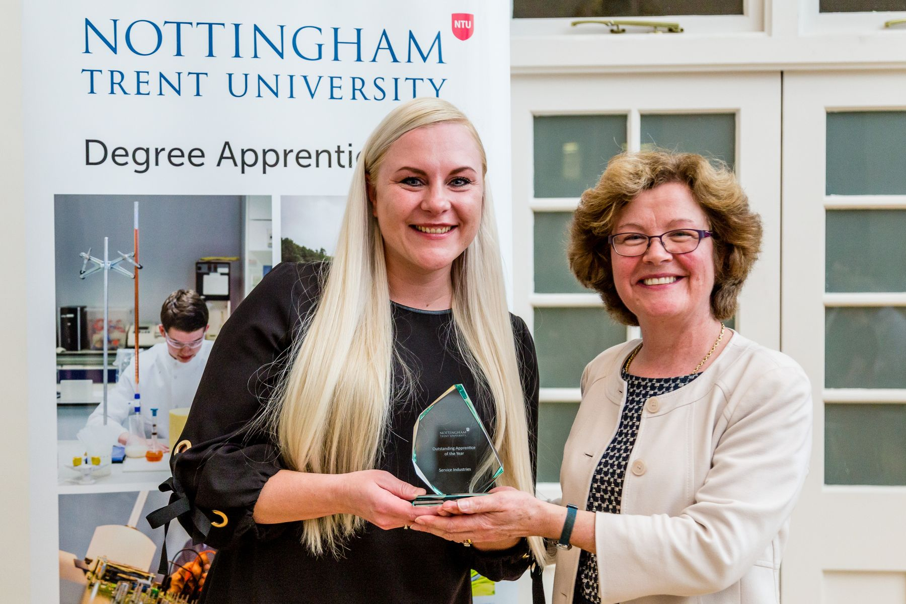 Apprentice collection award for outstanding apprentice of the year within the service industry