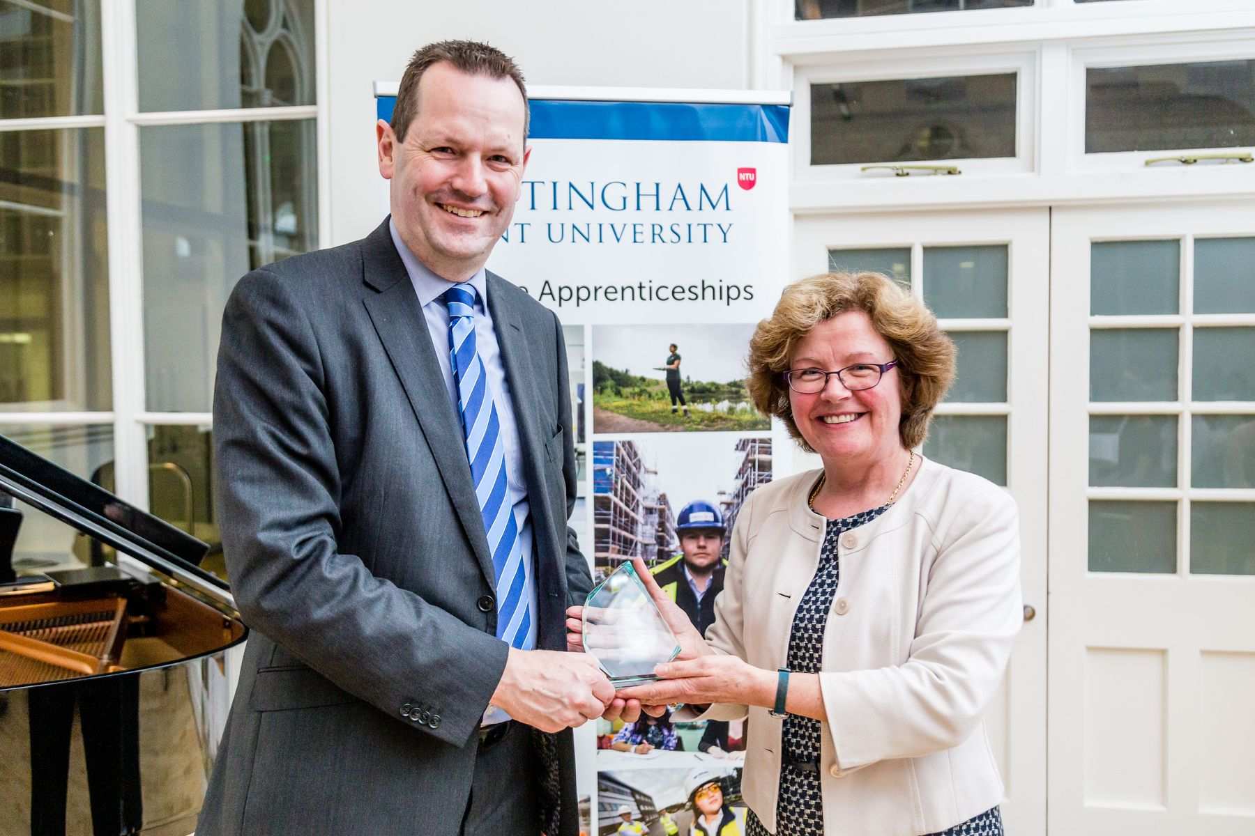Gleeds accepting the award for large apprenticeship employer of the year