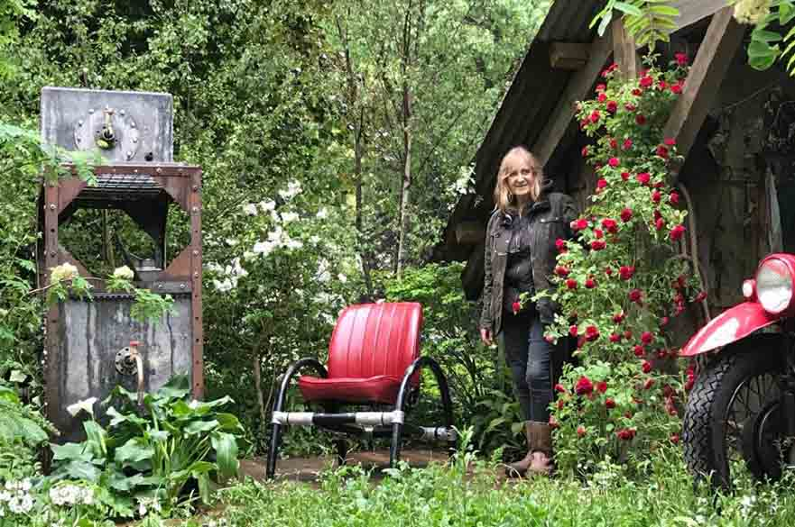 Sue Hayward with her show garden