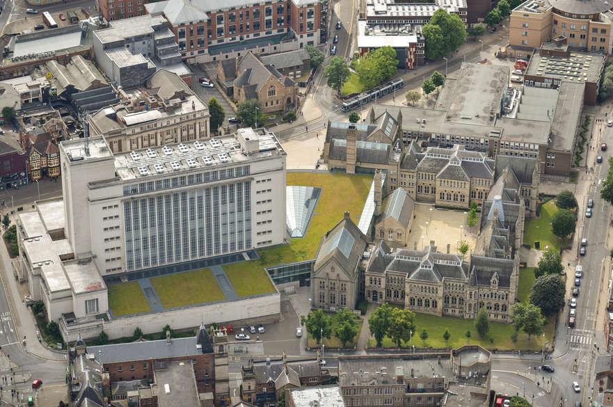 Campus shot aerial