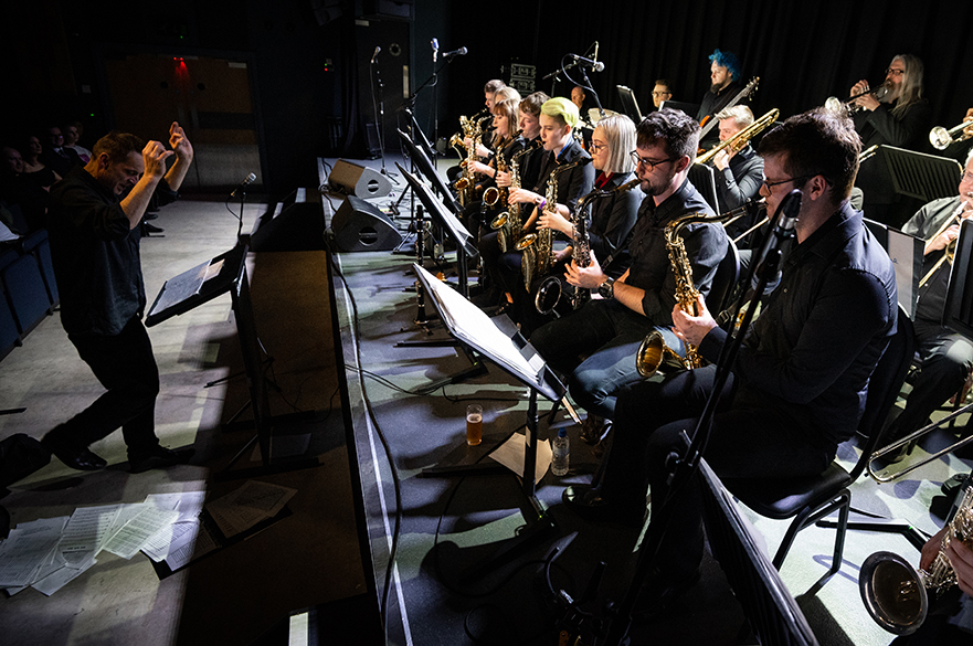 Big Band on stage.