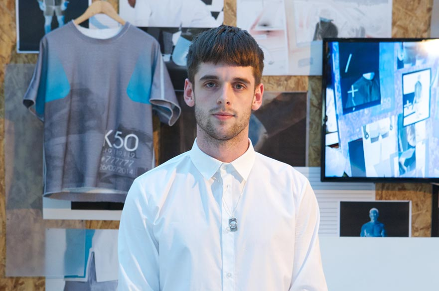 Oli at the NTU Degree Show in 2014