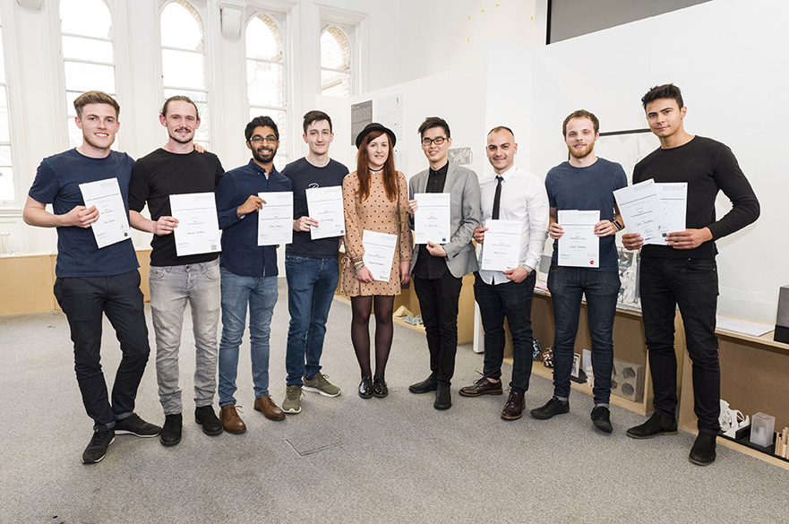 BArch (Hons) Architecture prize winners 2017