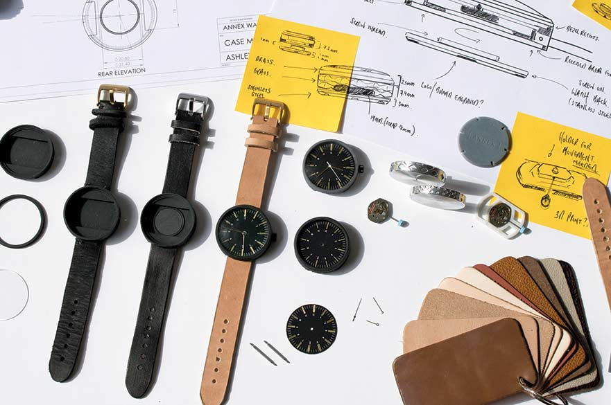 Annex Watches - work by Ashley Hunt. Annex Watches offer the consumer a unique product personalisation experience.