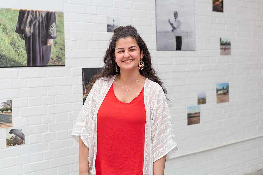 Rasha Kotaiche, BA (Hons) Photography student, at Free Range