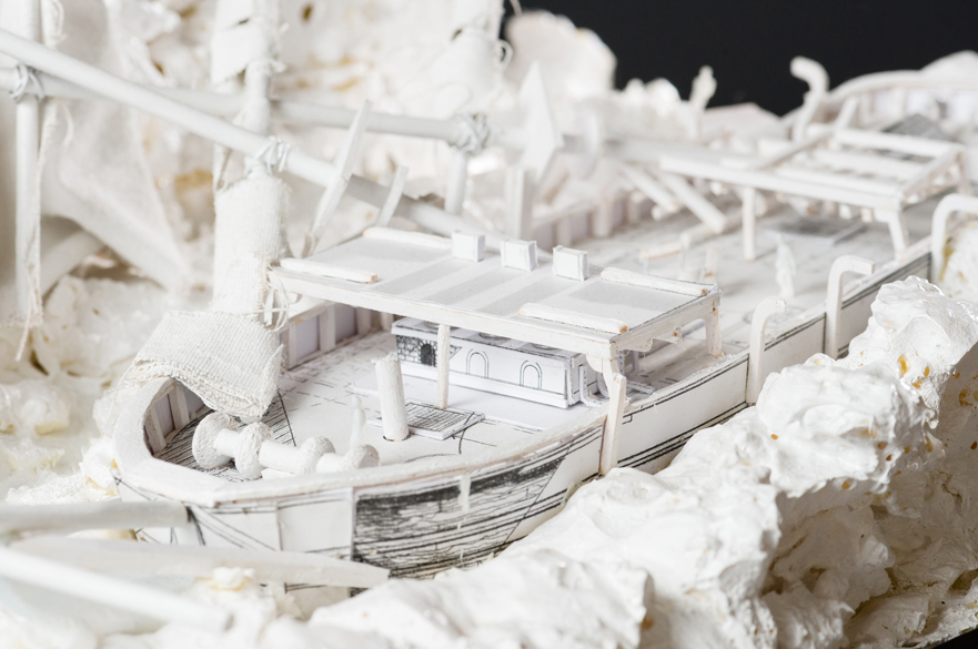'The North Water Shipwreck' white model
