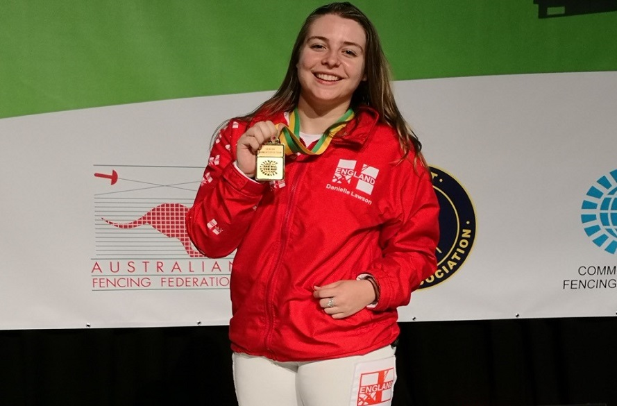 Danielle with gold medal