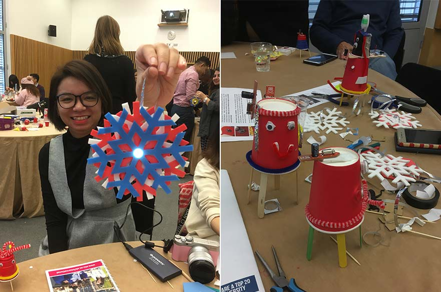 Final crafts created under the guidance of the Maker Club