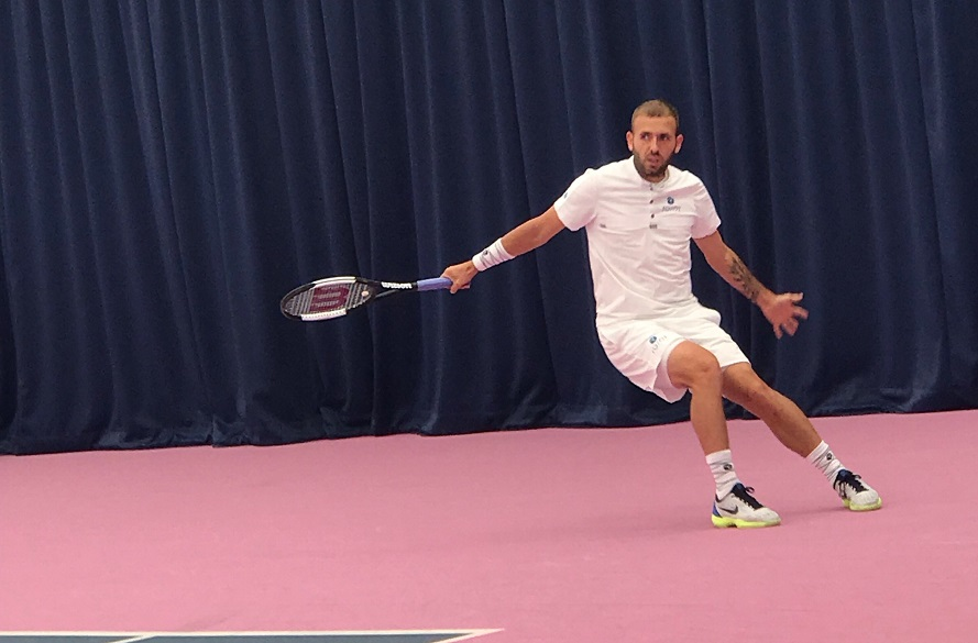 Tennis player Dan Evans