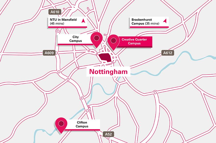 Creative Quarter Campus location map
