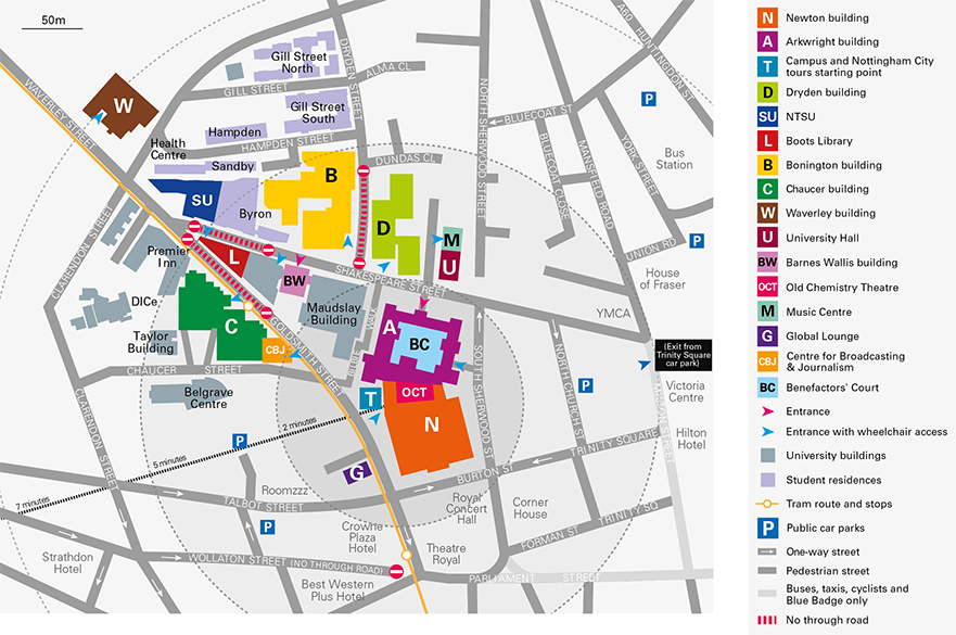 City Campus open house map