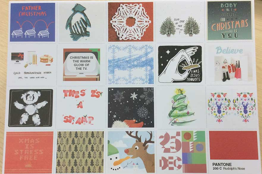 Graphic design xmas card