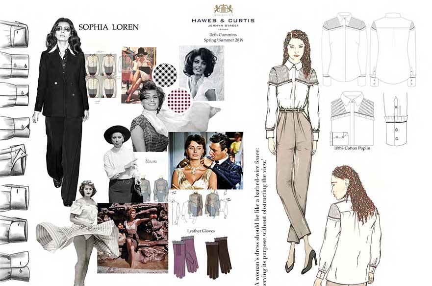 Beth's mood board drawing inspiration from Sophia Loren