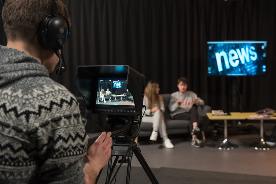 students working with Notts TV