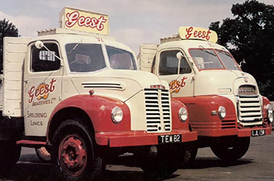 2 Geest delivery trucks