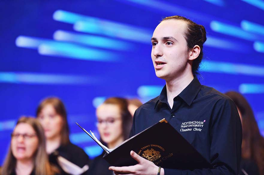 Male Chamber Choir member singing