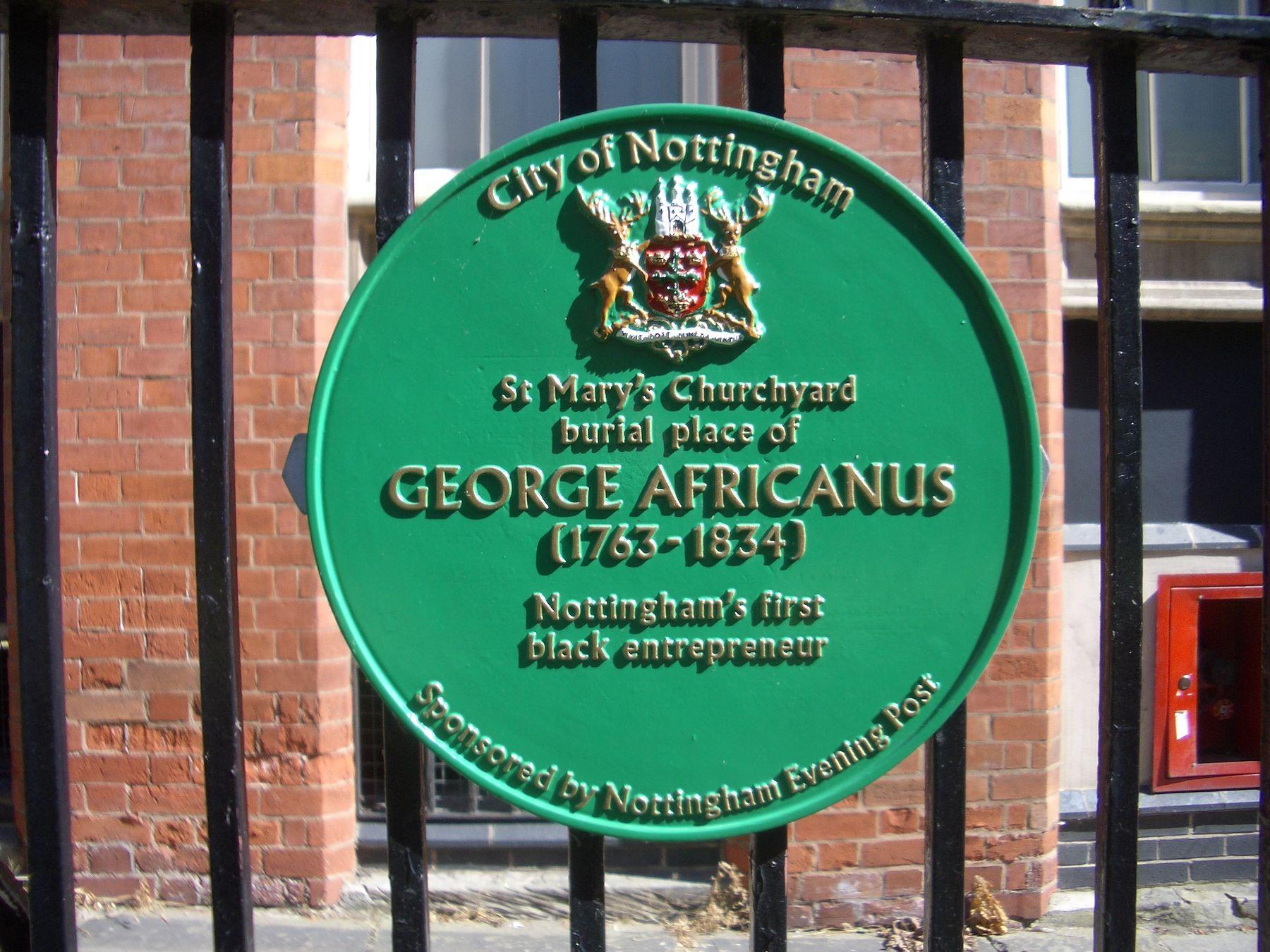 George Africanus plaque