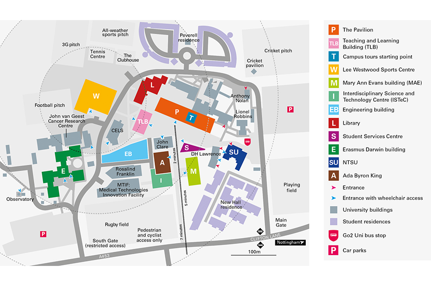 Clifton Campus open house map
