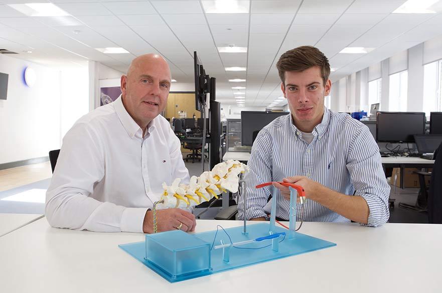 Professor Breedon and Mark Golab