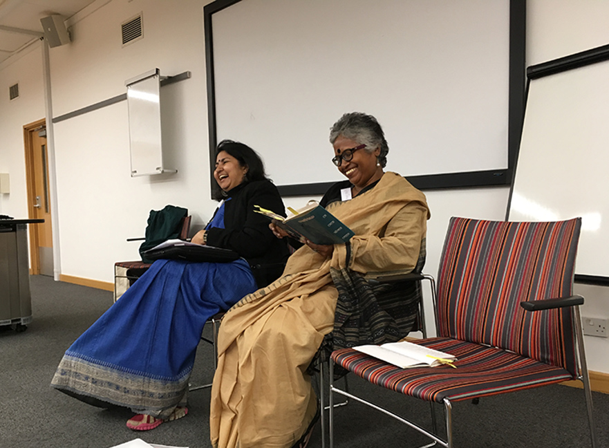 L-R: Translator Sipra Mukherjee, Dalit author Kalyani Thakur