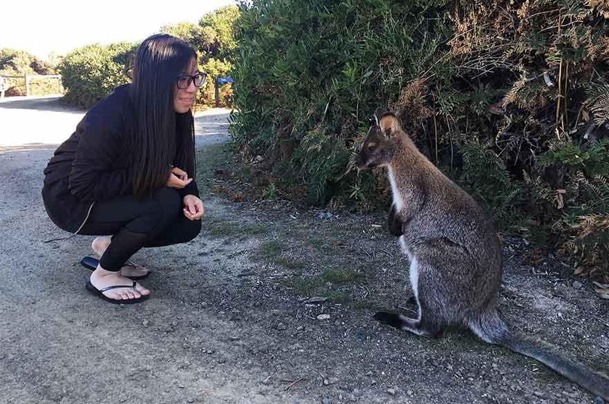 Jenny exploring Australia