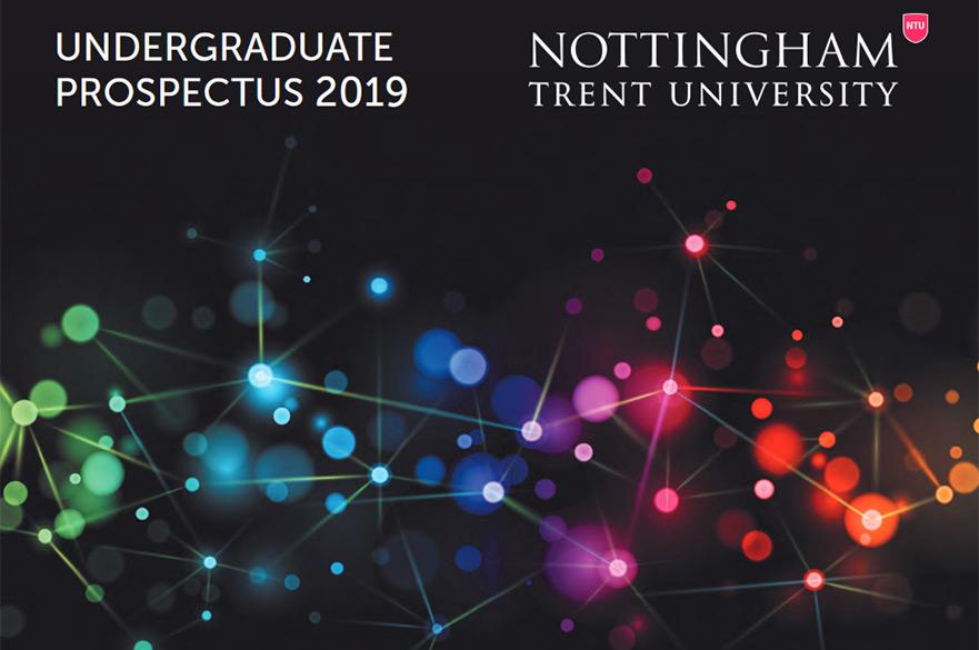 Nottingham Trent University 2019 Undergraduate Prospectus Cover