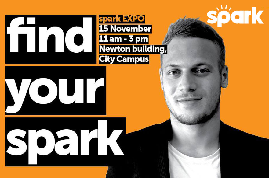spark EXPO graphic Miles Waghorn profile