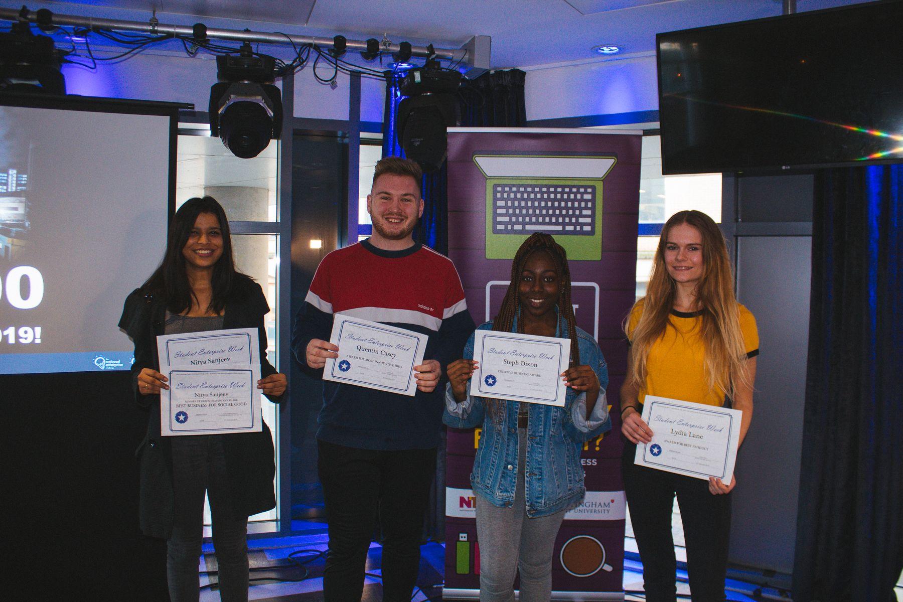 Student Enterprise Week winners